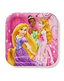 Disney Princess 7 in Square Plate, Pack of 8, Party Supplies