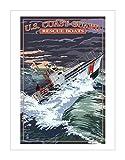 原版进口装饰画 美国海岸警卫队 - 44脚电机救生艇【U.S. Coast Guard - 44 Foot Motor Life Boat】 81x61cm 海岸警卫队|旅游指南|旅行装饰画|旅游风格|旅游艺术|数码艺术|美军|花灯出版社收藏|航运|船艇|军事和战争|社会科学|交通|装饰画分类|装饰画|教育|其它收藏|艺术|收藏品 G7306539P81X61-图片