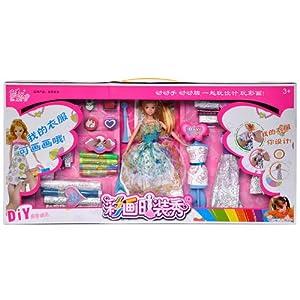 娃娃女孩手绘服装玩具可画画服装玩具