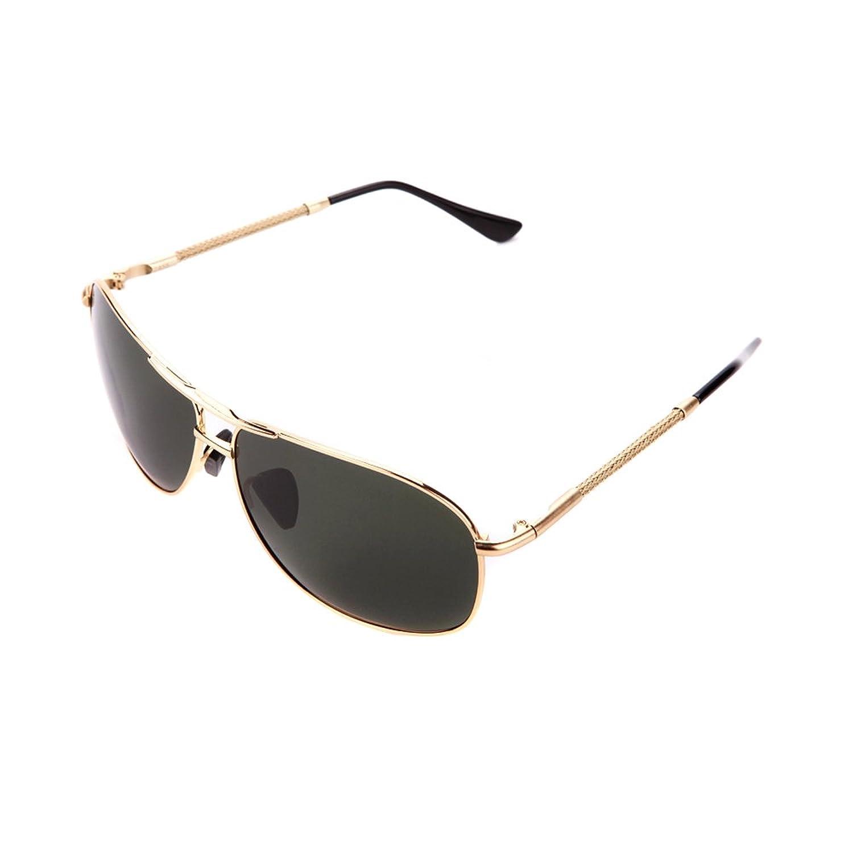 kasha-2455 卡莎 圆形边框全框墨镜 金属合金 男士男款太阳眼镜潮 (金