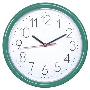 DANNOL 德高 20年出口著名品牌 经典.绿P1206.WGN挂钟 10寸(25.4cm)百折胶系列