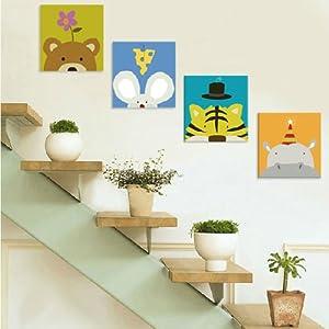 幼儿园楼梯卡通挂画 儿童壁画照片墙贴画无框画