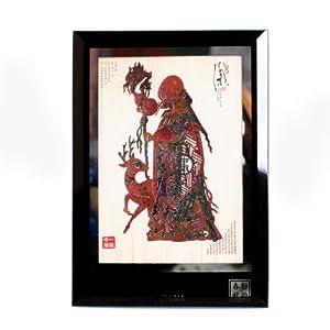 西府 陕西皮影装饰画16*11玻璃镜框特色工艺品外事出国礼品