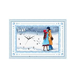 恋美印布十字绣 37003爱情心语(暖暖心迹)(图案印在布上无需画格) 中格 11CT
