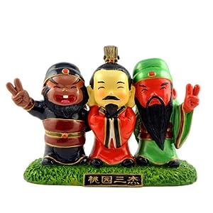 创意卡通京剧三国人物装饰摆件 节日商务外事出国礼品 桃园三结义