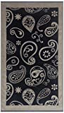 Maghso Beautiful Egyptian Cotton Luxury Oversized Bandana Beach Towel, 36 x 64