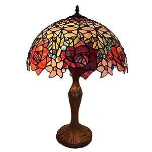 爱福德 tiffanylamp 蒂凡尼台灯,16寸/40cm,欧式田园风格,玫瑰花系列