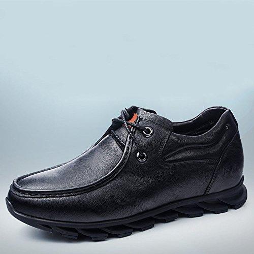 Gog 高哥 增高鞋男式日常休闲鞋男士内增高皮鞋6cm舒适软面秋季