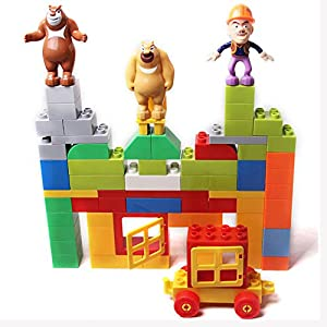 积木块动物图形