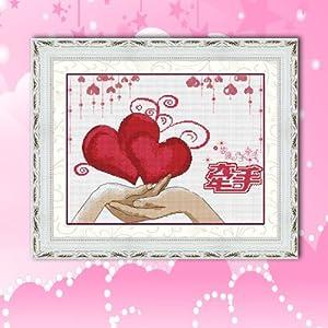 珍宝 精准印花十字绣 婚礼系列挂画 结婚十字绣 蒙娜丽莎十字绣 一生