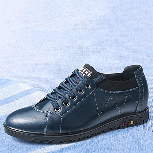 Gog 高哥 内增高男鞋6cm男士增高鞋男式6厘米时尚休闲鞋皮鞋秋季