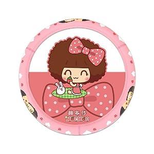 正版mocmoc摩丝娃娃 卡通乳胶汽车方向盘套 可爱韩国四季汽车把套 f06