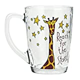 Elemental Kiitchen 居元素 艾尼励志玻璃杯 (卡通长颈鹿—摘星星)-图片