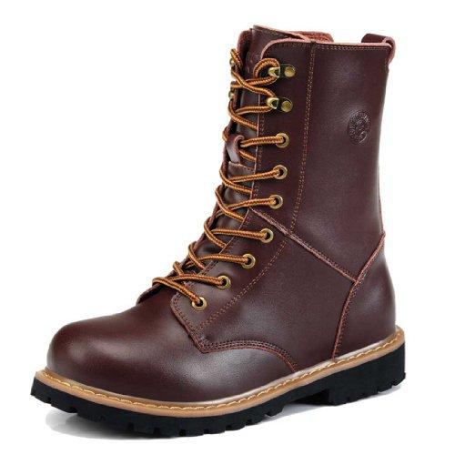 Guciheaven 古奇天伦 秋冬新款男靴休闲皮靴硬汉工装靴军靴男鞋 5585咖啡色43