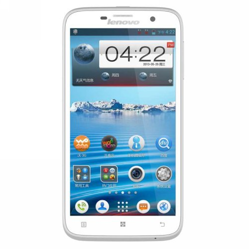 Lenovo 联想 A850 WCDMA/GSM 双卡双待 3G手机(白色  联通定制机)5.5英寸超大IPS屏,四核,支持联通21M极速下载-图片