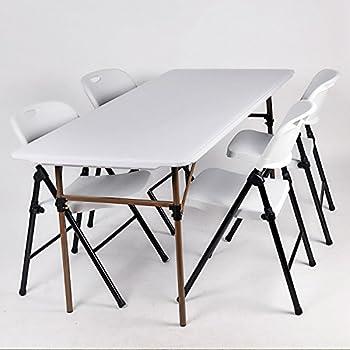 LUHUA 路华 6FT FT-003 折叠桌椅套装(1桌4靠背椅)L183*D76*H72cm