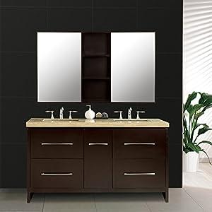 圣蒂娜浴室柜 新款卫浴柜组合简约欧式实橡木吊镜