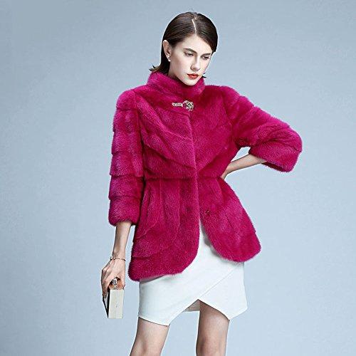 帕宝缇 水貂皮草整貂女装 真皮皮衣貂皮大衣外套