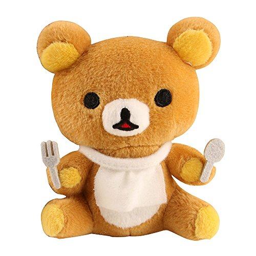 轻松小熊 吃大餐系列 毛绒掌上小公仔玩偶玩具 手掌公仔玩具 可爱超萌