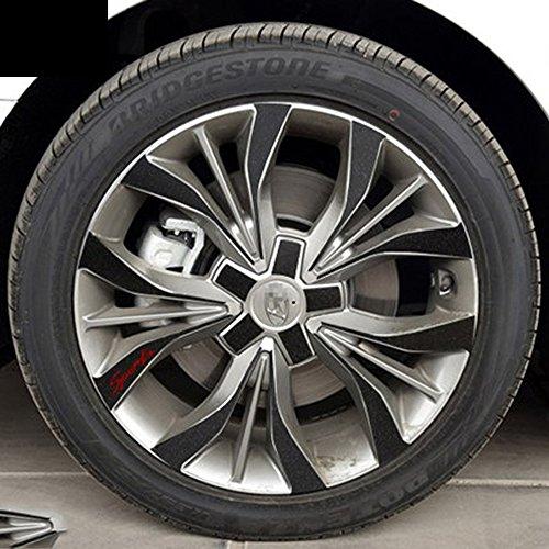 snblo 现代索纳塔九轮毂贴 索纳塔9改装专用车贴钢铃轮胎碳纤装饰车