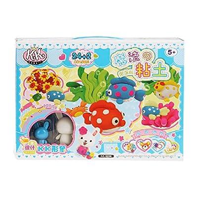 彩泥玩具手提礼盒 学生礼品/礼物/奖品 六一儿童节礼物 (蓝色海洋)