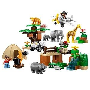 lego 乐高 得宝主题拼砌系列 动物园全家福 6156