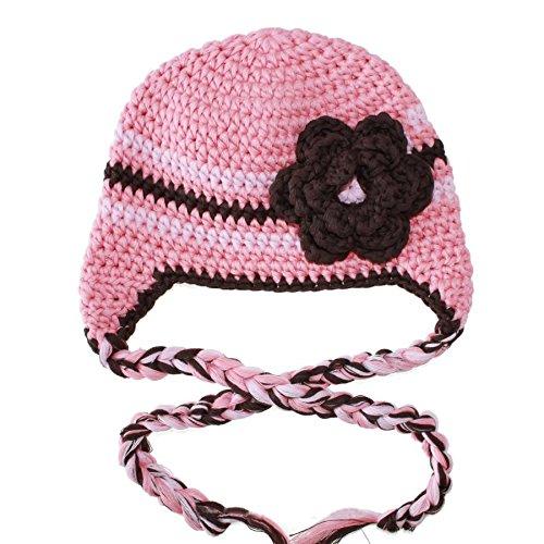 3-6个月幼儿宝宝帽子 钩针手工帽 摄影道具帽