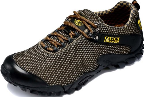 Guciheaven 户外休闲鞋 网布透气男鞋 防滑橡胶底 登山鞋 115645