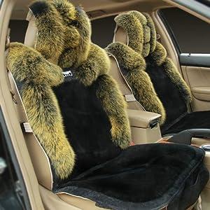 ii 汽车坐垫 冬季 狐狸毛坐垫 羊毛坐垫宝马1系3系5系