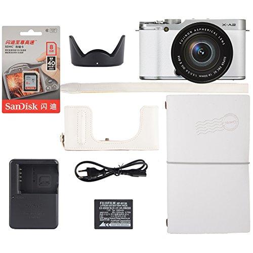 FUJIFILM 富士 X-A2 微单相机 套机 (XC16-50mmF3.5-5.6 II) 皓雪白留年限量版礼盒装 2599元