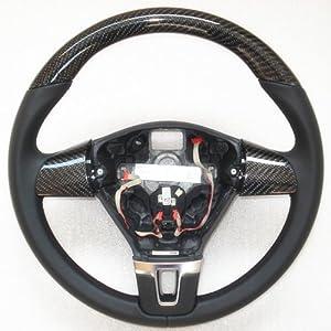 新领域 大众途锐/途观方向盘改装 碳纤方向盘 改装方向盘 真皮方向盘