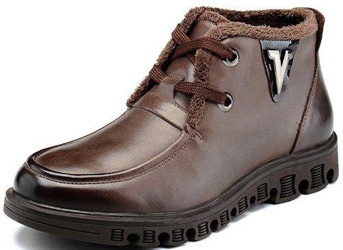 FGN 富贵鸟 百搭经典尊贵休闲真皮商务正装加绒保暖透气系带皮鞋男鞋