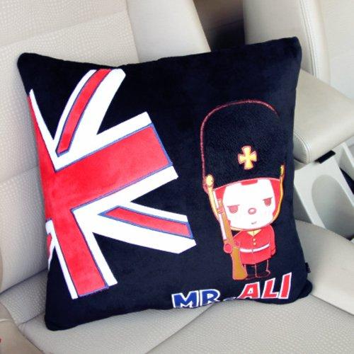 美车仔 阿狸汽车抱枕 新款英伦风可爱卡通个性车用抱枕 创意靠枕汽车