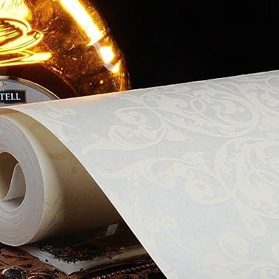 本木w电视背景墙壁纸菱形大花卧室欧式大马士革壁纸无纺布素色墙纸 00