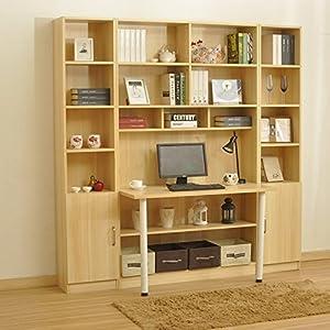 简约现代书房组合书柜客厅书架电脑桌板式学习桌单门储物柜颜色多选e0