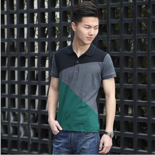 马蒂维尔 2014 夏季新款 男士短袖T恤  男装韩版 修身 休闲polo衫 棉保罗带领男DP922