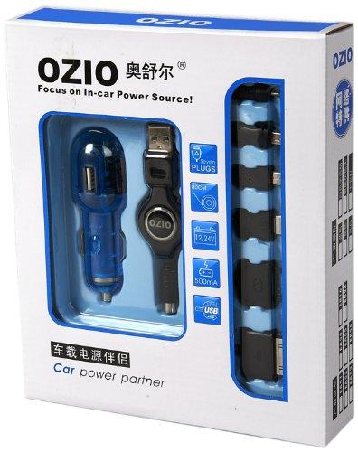 OZIO 奥舒尔六合一车载充电器EA51(500MA足功率)蓝色-图片