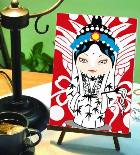 自油自画 数字油画diy手绘中国风京剧人物装饰画 花旦