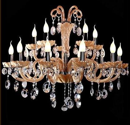 水晶灯餐厅灯具led水晶灯欧式单头吊灯客厅灯楼梯灯