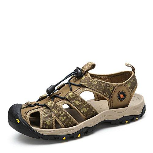 Camel 骆驼 凉鞋 户外沙滩凉鞋防撞鞋头 2015新款凉鞋 男 舒适透气
