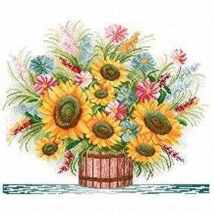 客厅卧室欧式花卉油画向日葵大花瓶