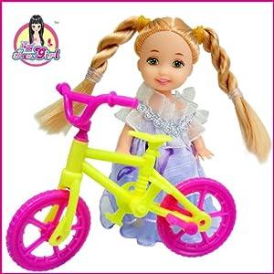 嘉丽芭比娃娃 8件衣服+鞋子+帽子+自行车+包包+小