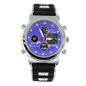薇趋势 viwill 橡胶手表 腕表 多功能计时表 日历表 防水表 电子表 潮 6837