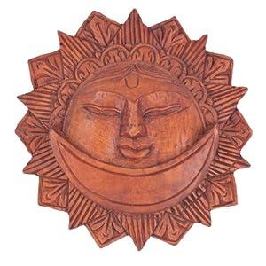 者梅 尼泊尔进口 纯手工制作柚木太阳神挂件 180-1024062