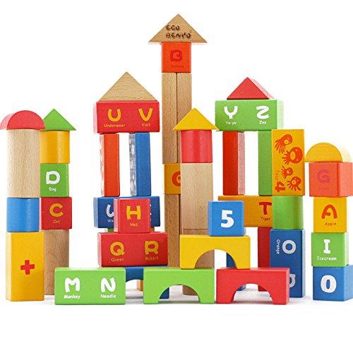 木玩世家城堡木制积木3岁以上益智玩具水性漆宝宝更安全 bh3116a