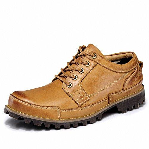 Suo 走索 冬季透气布洛克男士休闲鞋复古工装鞋真皮鞋英伦男鞋子板鞋大头鞋 ZS889G