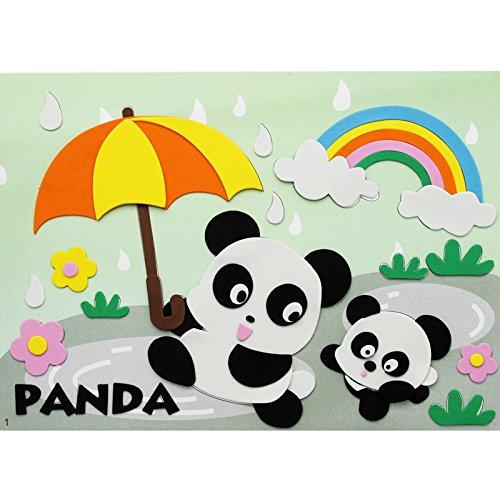 孩派eva贴画儿童手工制作 儿童益智玩具diy幼儿园手工 动物贴纸 (1号