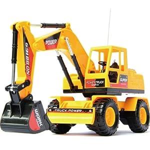 遥控挖土机车儿童挖掘机360°充电款工程车儿童玩具