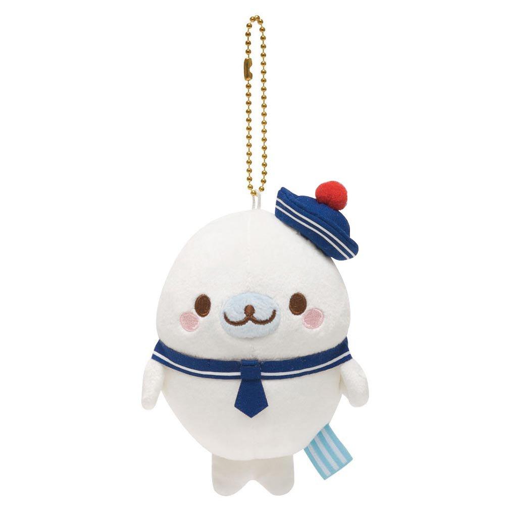 san-x 小海豹 海军主题 海军帽(白) 毛绒挂饰 毛绒小吊饰 可爱卡通超