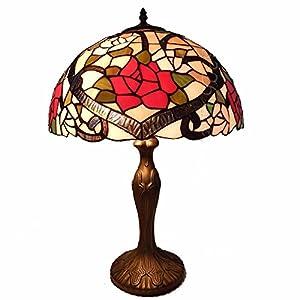 爱福德 tiffanylamp 蒂凡尼台灯,16寸/40cm,经典欧式田园风格,玫瑰